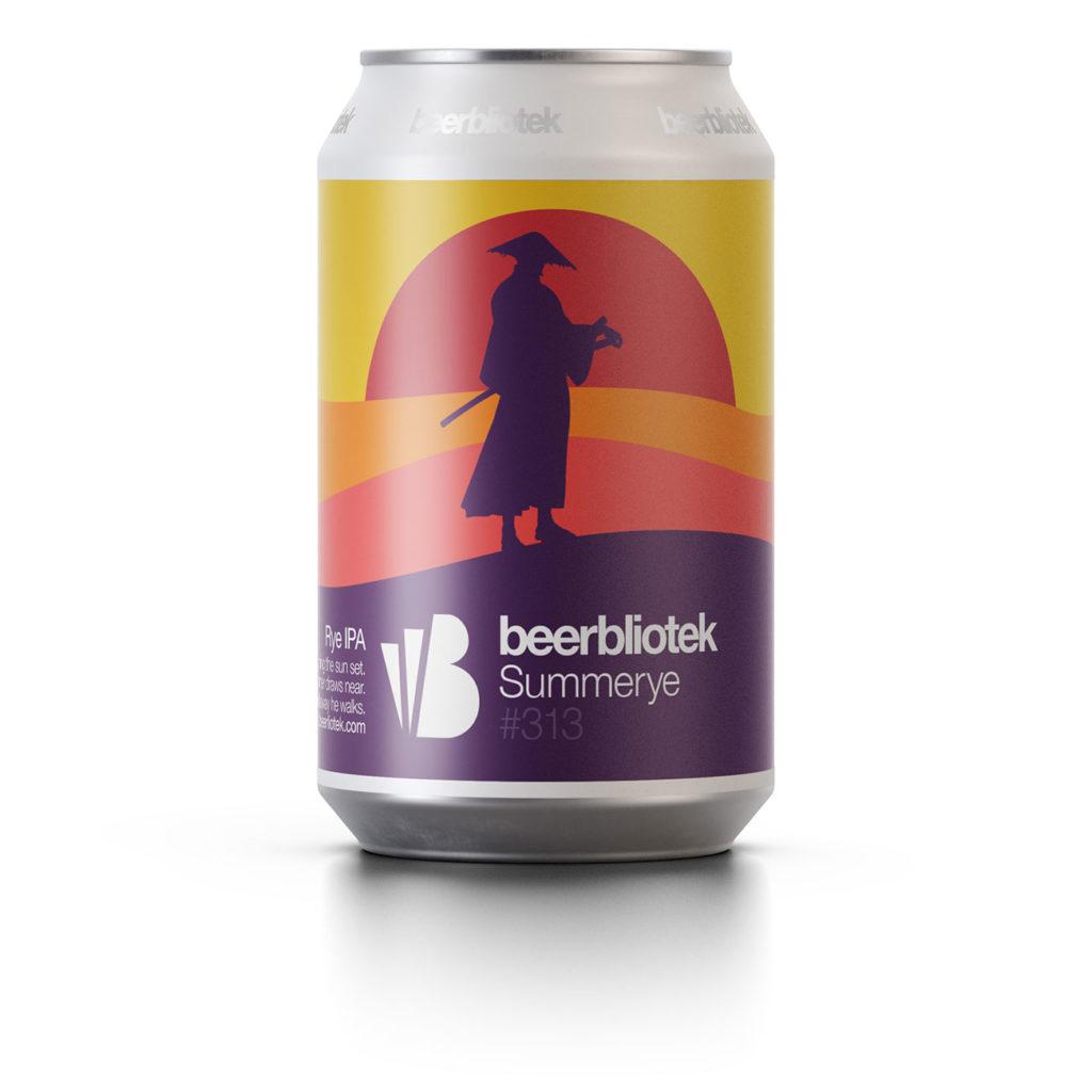 A can packshot of Summerye, a Rye IPA, brewed in Gothenburg, by Swedish Craft Brewery Beerbliotek.