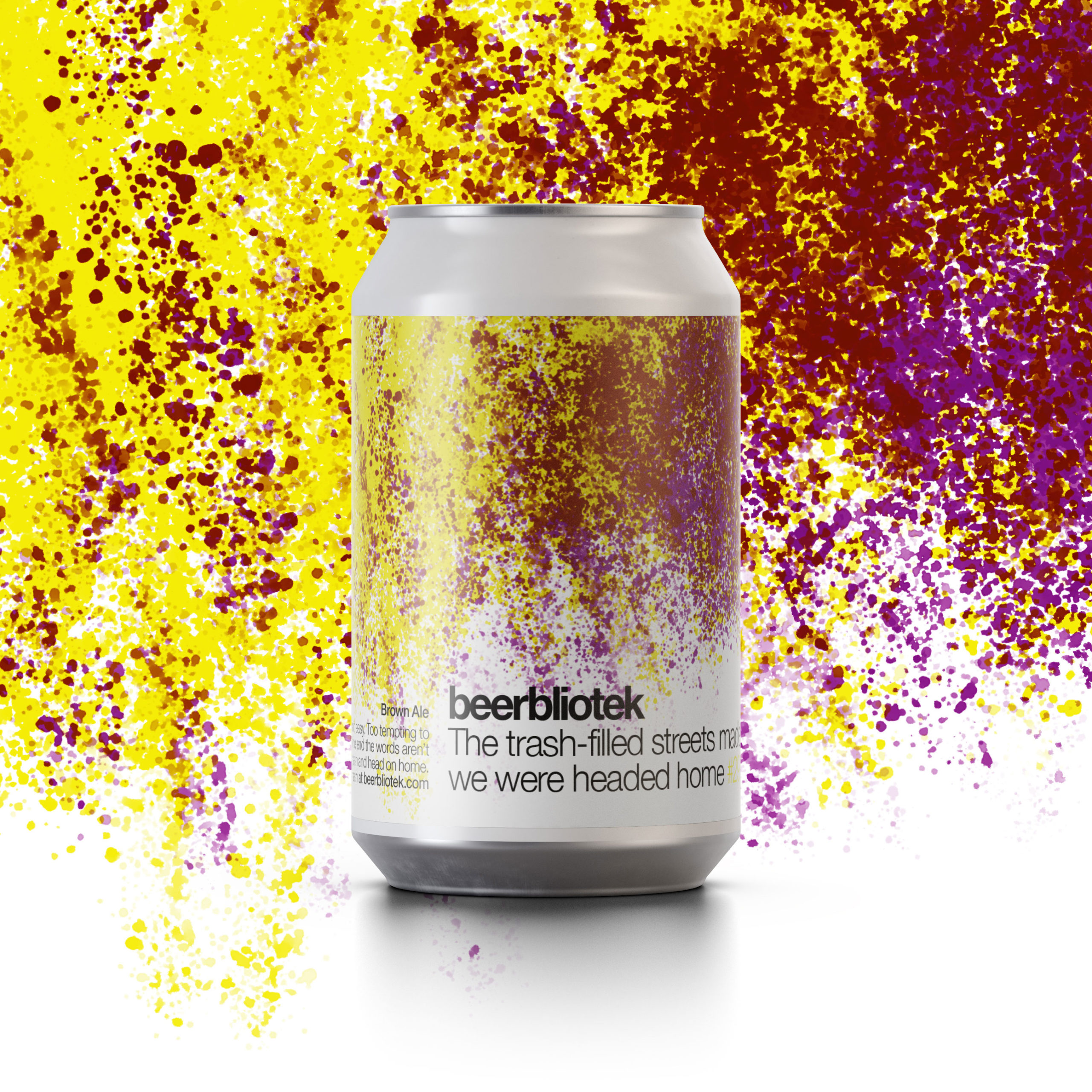 A can packshot of Make tiny changes to Earth, a Session IPA brewed in Gothenburg, by Swedish Craft Brewery Beerbliotek.