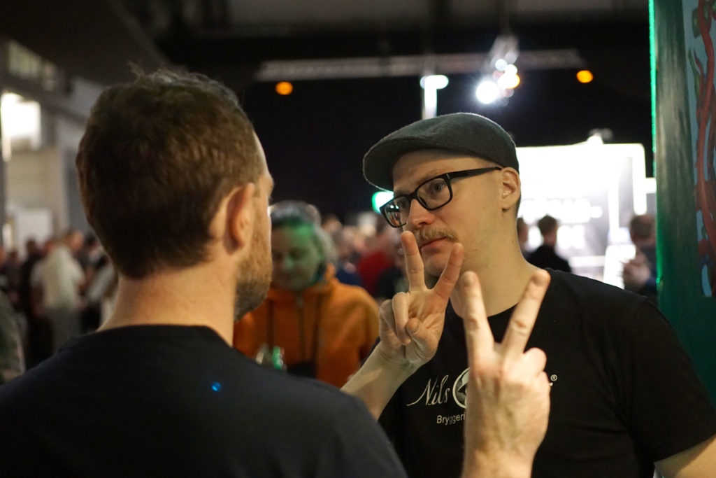 The two brewers from Beerbliotek and Nils Oscar Brewing at the Gothenburg Beer and Whiskey Fair.