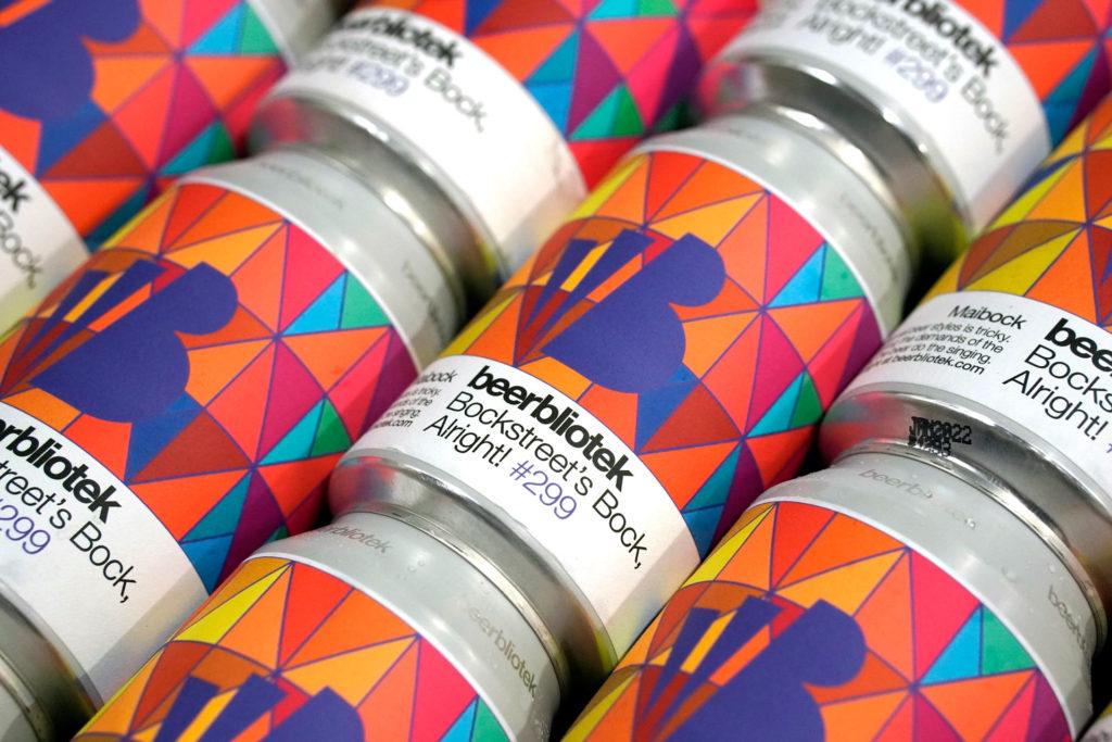 A can pattern of Bockstreet's Bock, Alright! A Maibock, brewed by Swedish Craft Brewery Beerbliotek.
